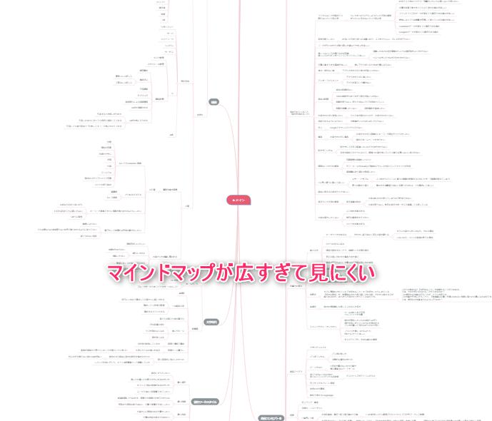 MindMeister_広すぎるマインドマップ