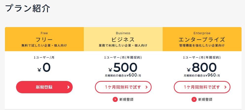 チャットワーク_料金プラン